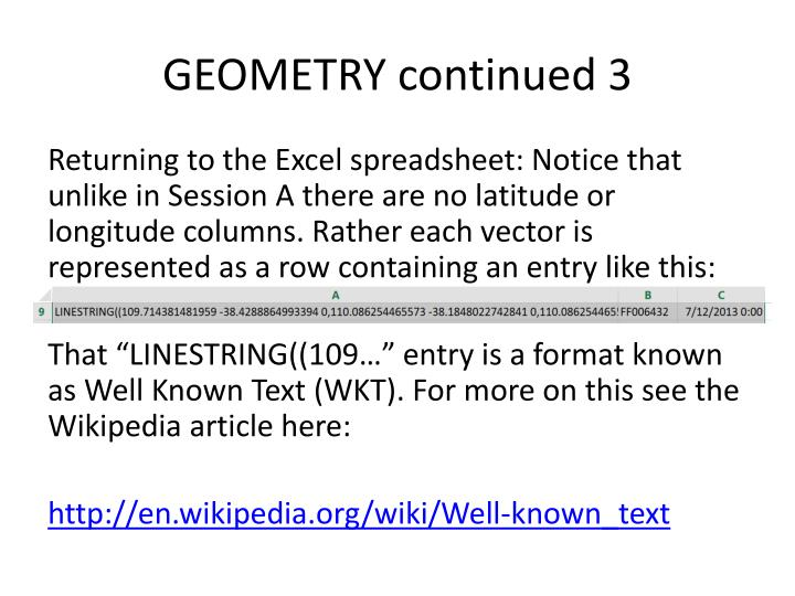 GEOMETRY continued 3