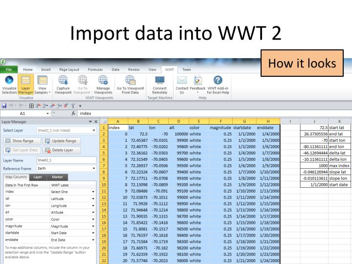 Import data into WWT 2