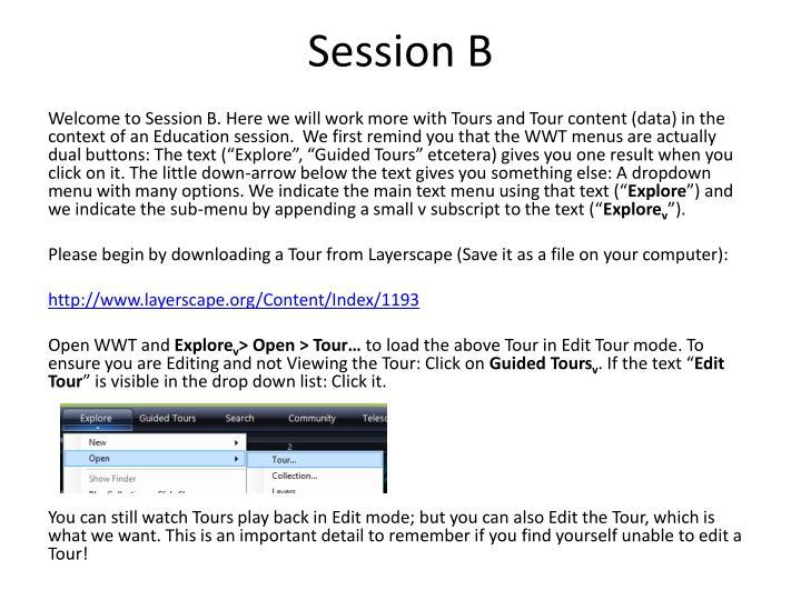 Session B