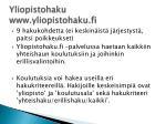 yliopistohaku www yliopistohaku fi
