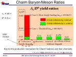 charm baryon meson ratios