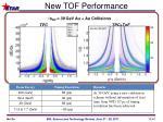 new tof performance