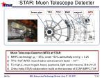 star muon telescope detector