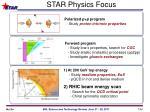 star physics focus