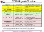 star upgrade timeline