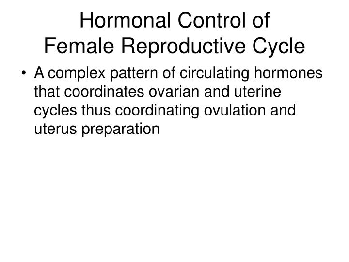 Hormonal Control of