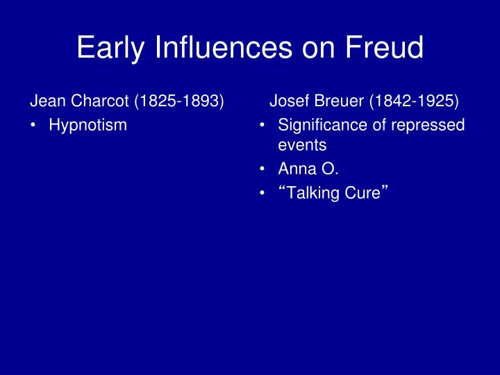 Early Influences on Freud