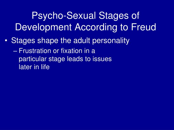 Psycho-Sexual Stages of Development According to Freud