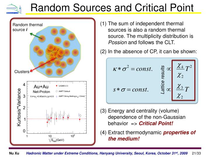 Random Sources and Critical Point