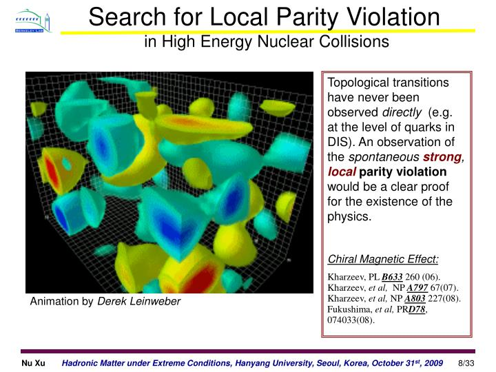 Search for Local Parity Violation