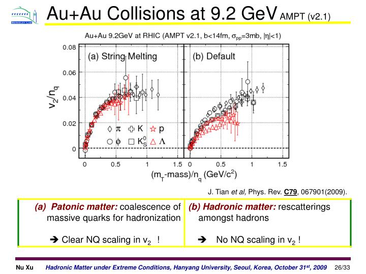 Au+Au Collisions at 9.2 GeV
