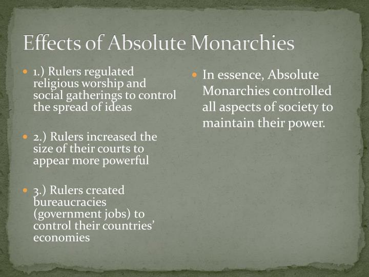Effects of Absolute Monarchies