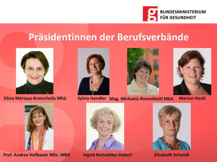 Präsidentinnen der Berufsverbände