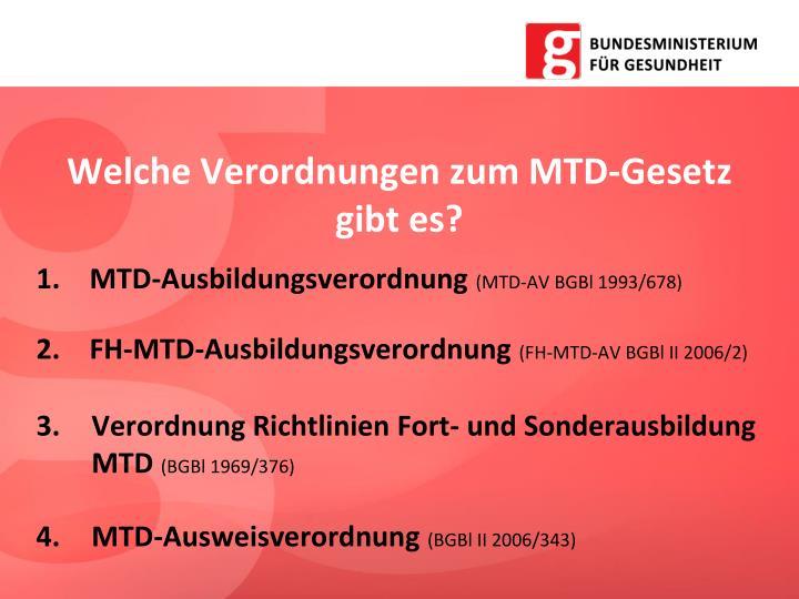 Welche Verordnungen zum MTD-Gesetz