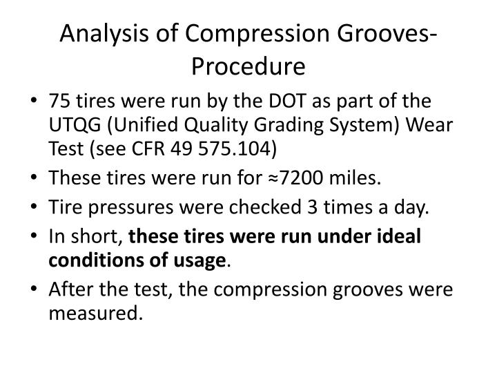 Analysis of Compression Grooves-Procedure