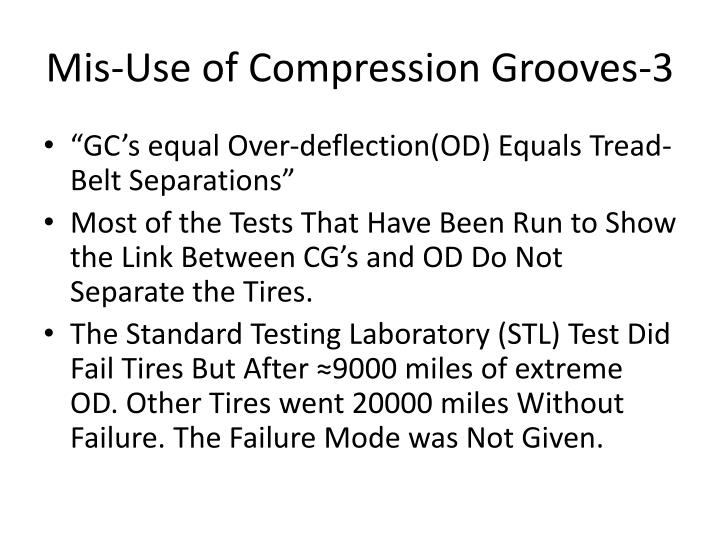 Mis-Use of Compression Grooves-3