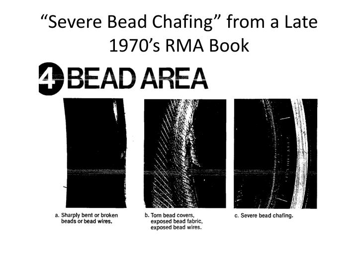 """Severe Bead Chafing"" from a Late 1970's RMA Book"
