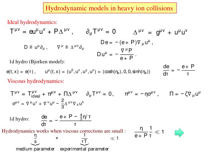 Hydrodynamic models in heavy ion collisions