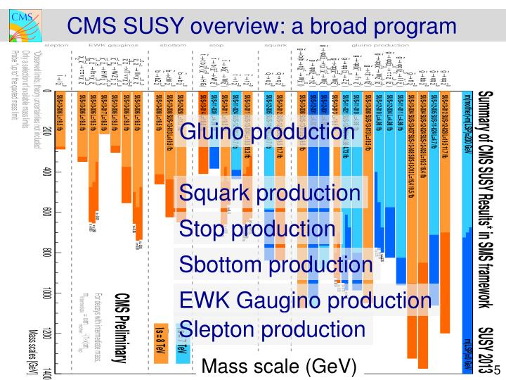 CMS SUSY overview: a broad program