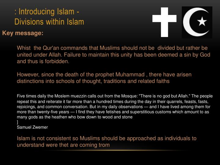 : Introducing Islam -
