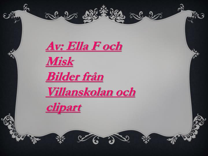 Av: Ella F och Misk