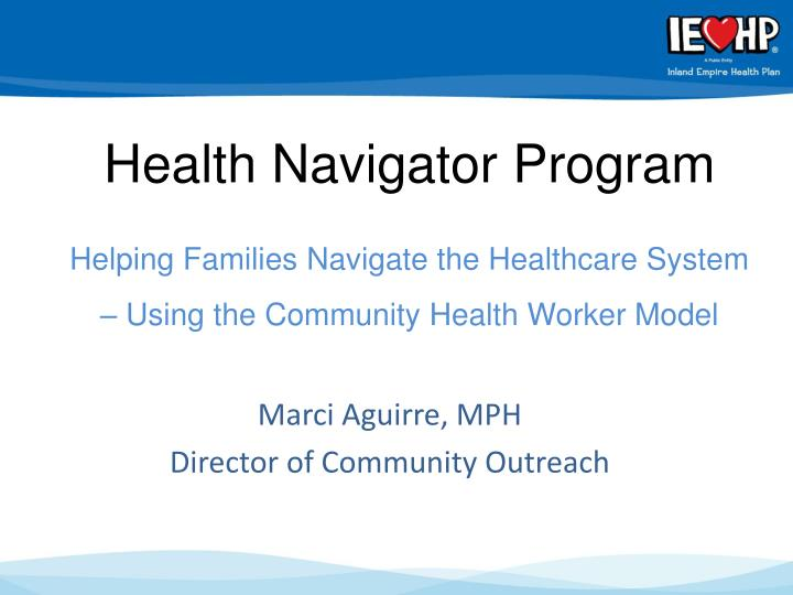 Health Navigator Program