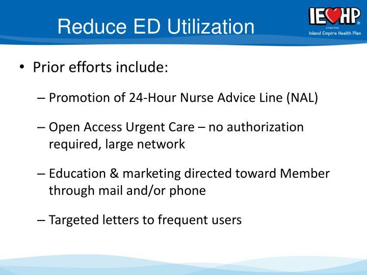 Reduce ED Utilization