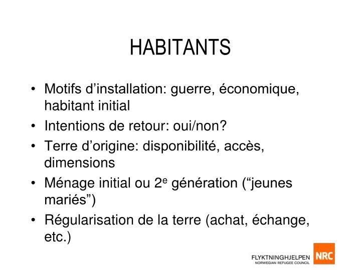 HABITANTS