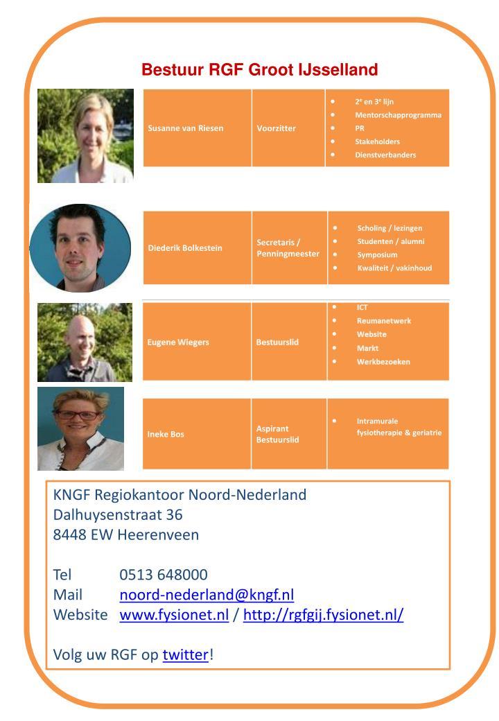 Bestuur RGF Groot IJsselland