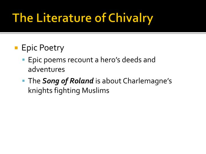 chivalry in literature