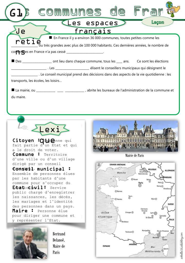 Les communes de France