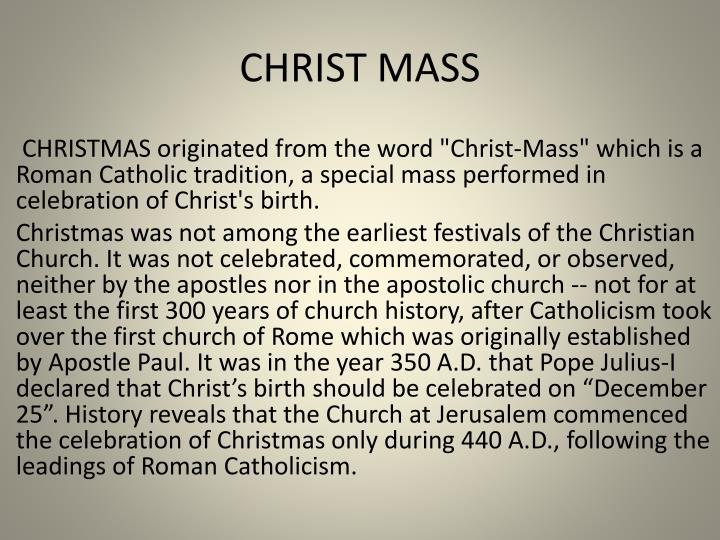 CHRIST MASS