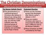 the christian denominations