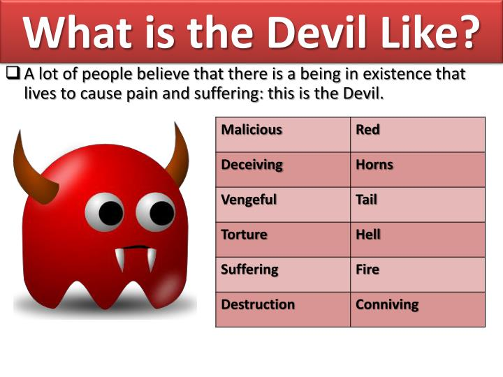 What is the Devil Like?