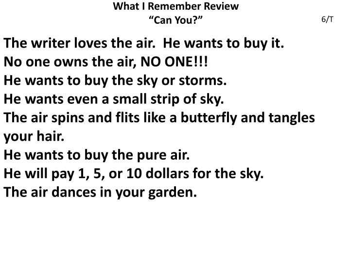 What I Remember Review