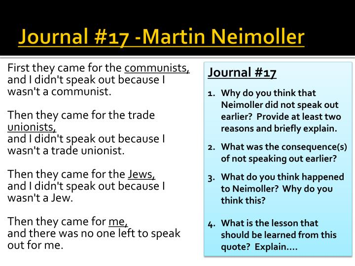 Journal 17 martin neimoller