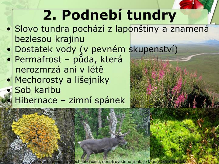 2. Podnebí tundry