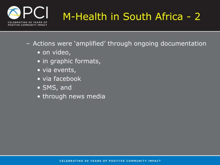 M-Health in South Africa - 2
