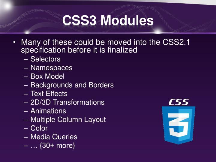CSS3 Modules