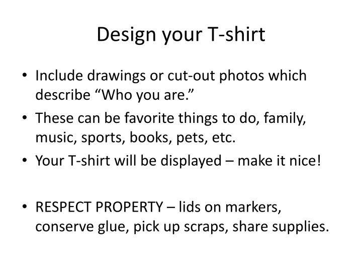 Design your T-shirt