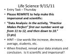 life science 9 15 11