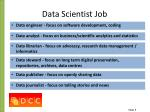 data scientist job