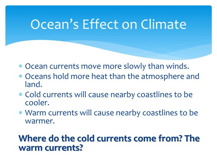 Ocean's Effect on Climate