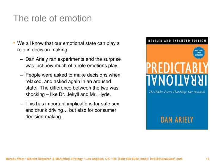 The role of emotion