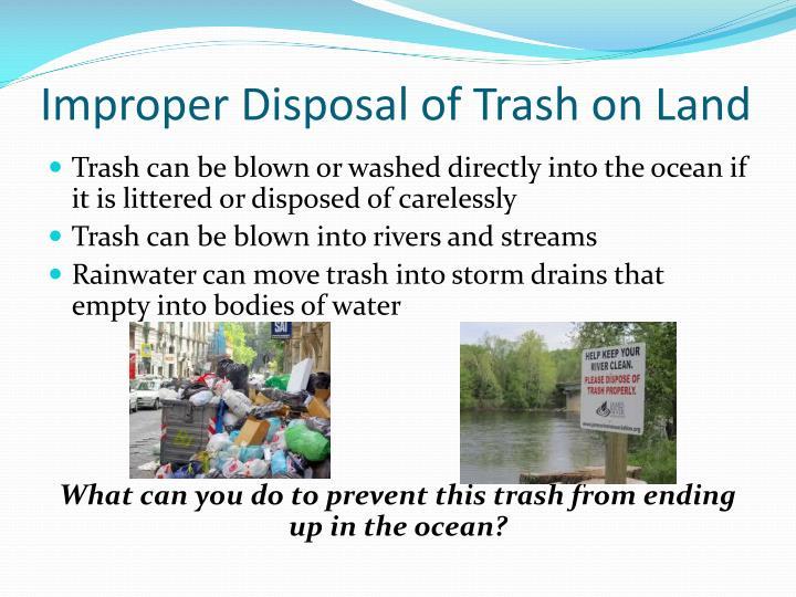 Improper Disposal of Trash on Land