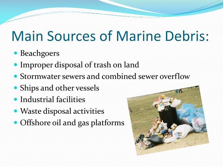 Main Sources of Marine Debris:
