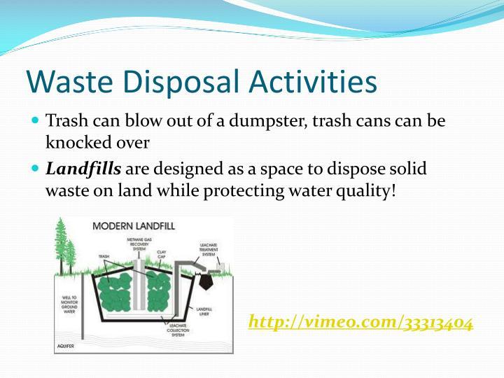 Waste Disposal Activities