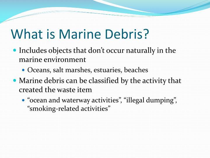 What is Marine Debris?
