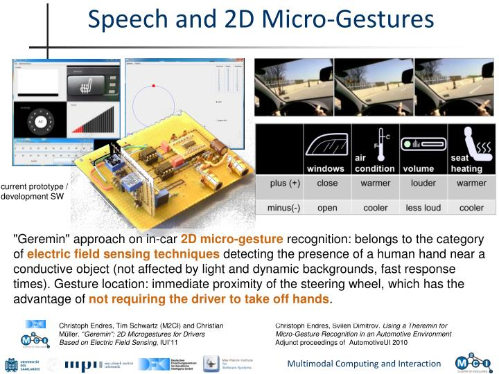 Speech and 2d micro gestures
