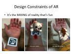 design constraints of ar5